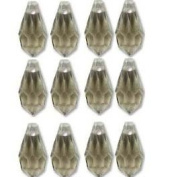 6.5x13mm Preciosa Czech Crystal Faceted Drop Black Diamond (Smoke) Beads 498 68 301 Package of 12