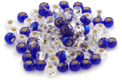 Beaders Paradise LT6EMIX51 Czech Glass Sapphire and Diamond 6/0 E-Beads in a Tube