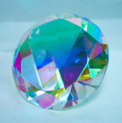 Crystal AB Glass Diamond Jewel Paperweight 8.3cm