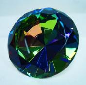 Dark Crystal AB Glass Diamond Jewel Paperweight 8.3cm