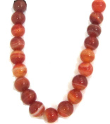 Bead Collection 40344 Banded Amber Agate Beads, 20cm