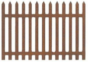 Rustic Finish Fairy Garden Size Charming Tin Picket Fence - Set of 6