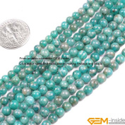 Gem-Inside 4mm Round Russian Amazonite Beads Strand 15 Inches Jewellery Making Beads