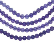 Amethyst 4mm Round Smooth Beads Medium Purple Strand 16""