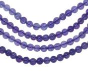 """Amethyst 4mm Round Smooth Beads Medium Purple Strand 16"""""""