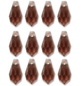 6.5x13mm Preciosa Czech Crystal Faceted Drop Light Burgandy Beads 498 68 301 Package of 12
