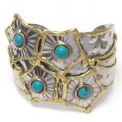 Michelle Ray Jewellery Hand made metal art bangle bracelet - O11145TQ-111424