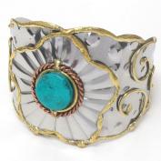 Michelle Ray Jewellery Hand made metal art bangle bracelet - O11145TQ-111428