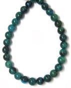 Bead Collection 40338 Round Green Phoenix Stone Beads, 25cm