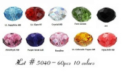 60 High Quality Eveserose Czech Crystal Beads Size 6mm Rondelle #5040 10 Colours For. Craftings