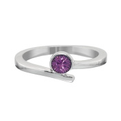 Annaleece February Birthstone Ring Size 9. Elements DeVries Hypoallergenic Nickel-Free ESS25AM-09-ANNA
