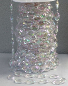 60 feet Extra Large Oval Faux Iridescent Crystal Like Beads by the spool