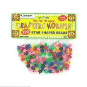 120pc star & heart beads - Case of 24