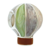 Marketplace 151197 Light Hot Air Balloon Bead in Sterling Silver with Enamel Moress E-31A