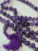 Amethyst Mala 108 Beads on Knotted String