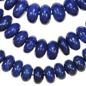 Lapis Lazuli 8mm Button Disc Gem Blue Beads Strand 15.75""