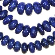 """Lapis Lazuli 8mm Button Disc Gem Blue Beads Strand 15.75"""""""