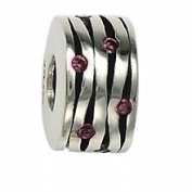Marketplace 151163 Pageant Bead in Sterling Silver with Pink. Zirconia Moress ST-26B