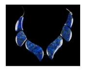 Lapis Lazuli Swirl 6 Beads Set 15mm-35mm