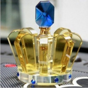 2014. New Fashion Car Air Freshener Yellow Crown Clear Crystal Perfume Bottle Empty