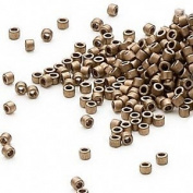 50 Grammes Opaque Matte Metallic Dark Gold, (Db322) Delica Myiuki 11/0 Tube Round Seed Bead Approx 10,000 Beads