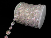 CrystalPlace 66 Feet Faux Iridescent Crystal Like Beads By the Spool