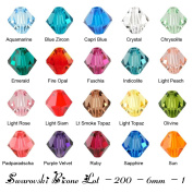 Wholesale Lot 200 bicone 6MM #5328. Crystal Beads 20 colours