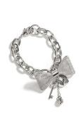 Guess Silver-tone Mesh Bow Bracelet