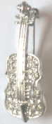 "Crystal Brooch Lapel Pin ""Violin"""