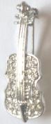 """Crystal Brooch Lapel Pin """"Violin"""""""