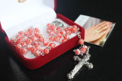 Salmon Pink MURANO Glass Rosary Beads Rosaries BNIB 6mm Beads