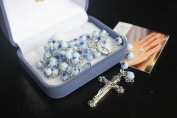 Light Blue MURANO Glass Rosary Beads Rosaries BNIB 6mm Beads