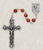 Creed Italian Brown Coco Bead Rosary with Crucifix