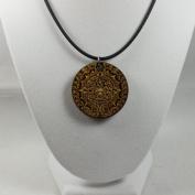 Mayan Calendar Necklace - Wood