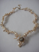 Pearls Necklace Handmade Jewellery 36cm