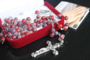Red MURANO Glass Rosary Beads Rosaries BNIB 6mm Beads
