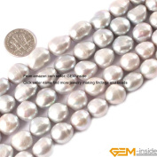Gem-Inside 11-12X12-14mm Freeform Mixed Colour Natural Freshwater Pearl Beads Strand 15 Inches
