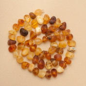 Raw Thick Bead Baltic Amber Necklace 17.5'