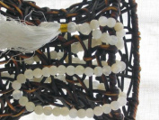 Moonstone Mala (108 Beads on Double-knotted Silk; Colour