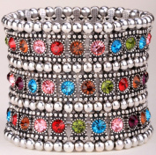 Multi Colour Crystal Stretch Bracelet