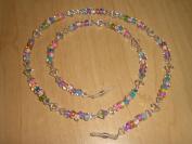 . Crystal AB Czech Glass Bead Mix Eyeglass Chain
