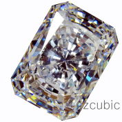 CUBIC ZIRCONIA (LOOSE CUBICZIRCONIA) WHITE colour EMERALD SHAPE/ ROUND CUTTING CLEAR CZ 10.0 X 8.0 MM (3.00 CTS DIAMOND WEIGHT) SUPER & SUPER QUALITY