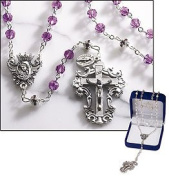 6mm Ameth Dia Ct Crys Rosary