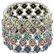 Multi Colour Crystal 5 Row Stretch Bracelet