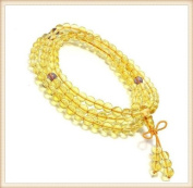 The Art of CureTM (70cm ) Healing Jewellery & Mala meditation beads (108 beads on a strand) Citrine