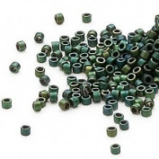 50 Grammes Opaque Matte Metallic Dark Teal, (Db327) Delica Myiuki 11/0 Tube Cut Round Seed Bead Approx 10,000 Beads