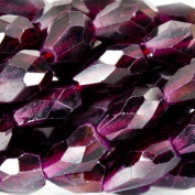 7mm Garnet Faceted Staight Drilled Teardrop Beads, 14 inch