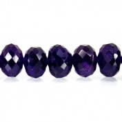 African Amethyst Beads 8mm Faceted Rondelle 45pcs/string 10 inches