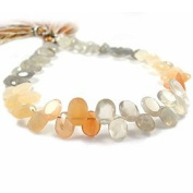 MultiColor Moonstone Faceted Ovals with Pavilion Facets