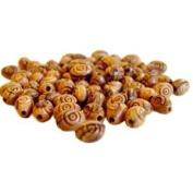500 Oval Carved Olive Wood Beads-Oval 9mm